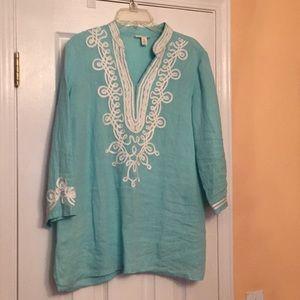 Charter Club Linen pleated Shirt